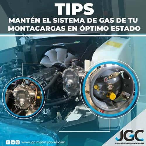 Tips para Sistema de Gas en Montacargas