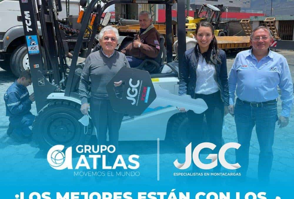 Entrega Montacargas TCM a Gruas Atlas